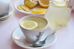 Чай с лимоном для лечения горла