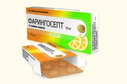 Фарингосепт при боли в горле