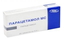 Парацетамол для снятия жара при ангине