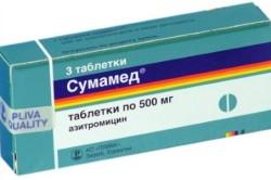 Сумамед при лечении тонзиллита